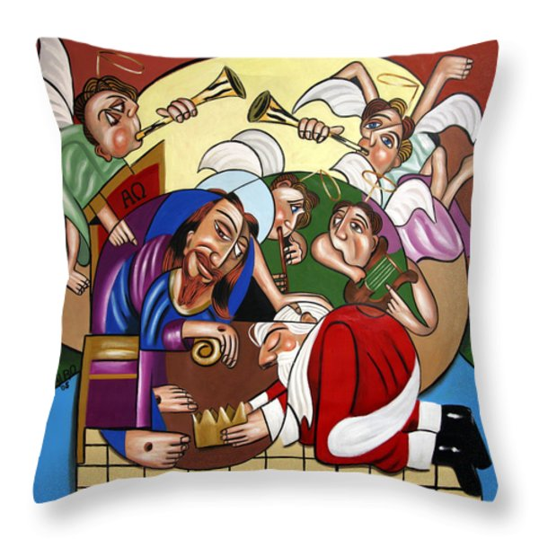 Good And Faithful Servant Throw Pillow by Anthony Falbo