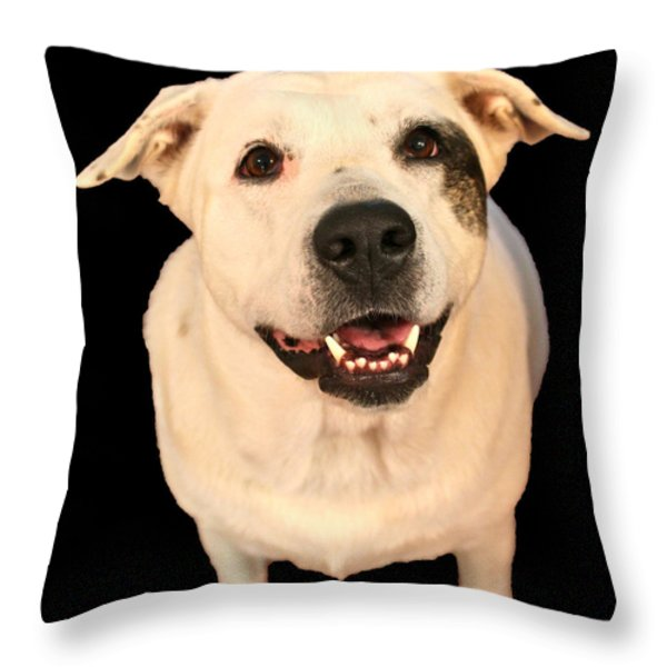 Good Dog Throw Pillow by Bellesouth Studio