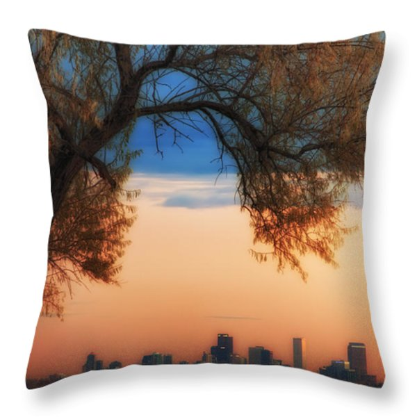 Good Morning Denver Throw Pillow by Darren  White