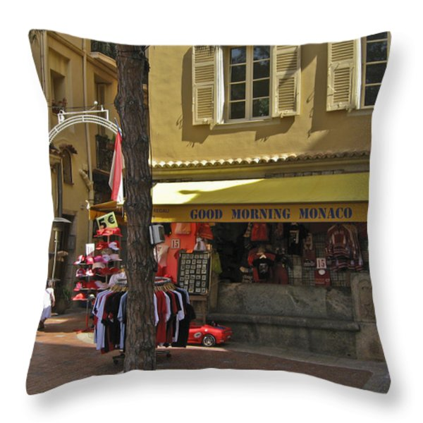 Good Morning Monaco Throw Pillow by Allen Sheffield