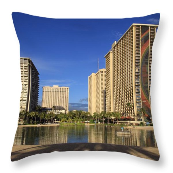 Good Morning Paradise Throw Pillow by DJ Florek