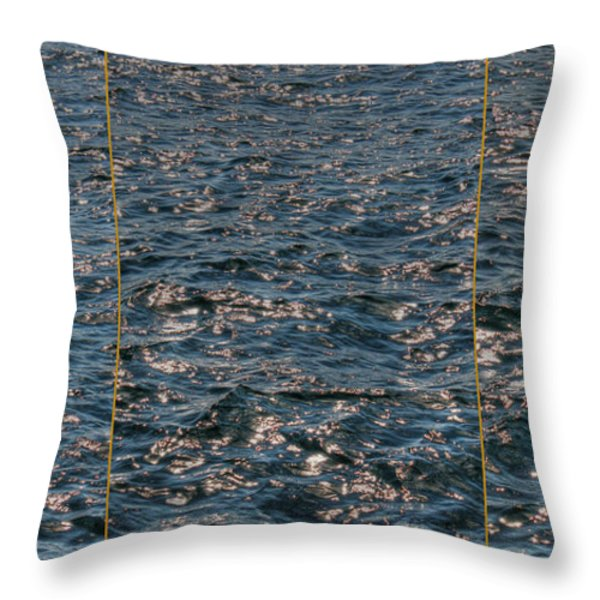 Good Morning Sea Throw Pillow by Jasna Buncic