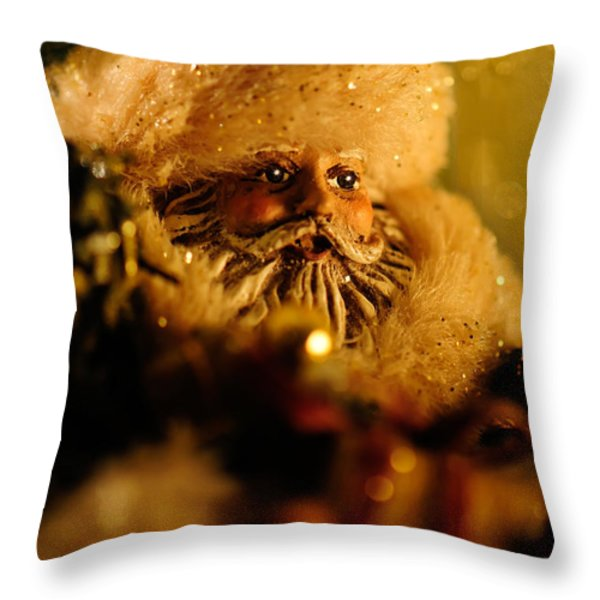 Good St. Nick Throw Pillow by Lois Bryan