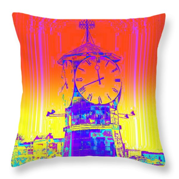 Good Time Throw Pillow by Hilde Widerberg
