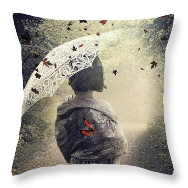Goodbye Summer Throw Pillow by Svetlana Sewell