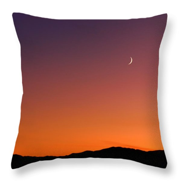 Goodnight Moon Throw Pillow by Rona Black