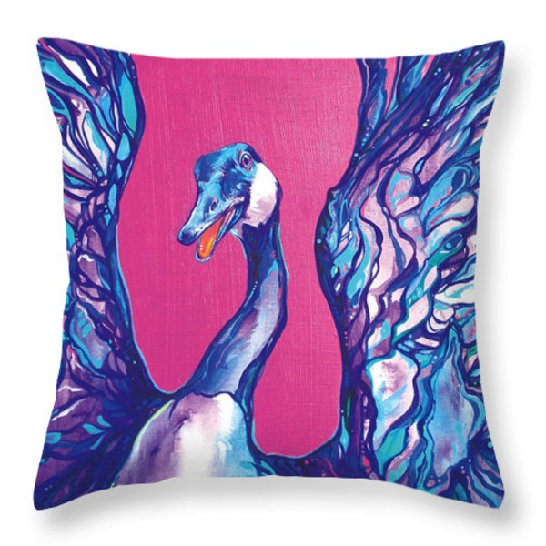 Goose Throw Pillow by Derrick Higgins