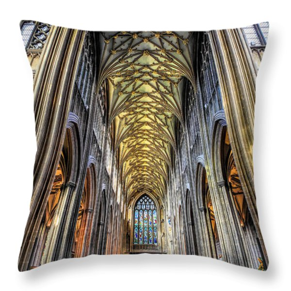 Gothic Architecture Throw Pillow by Adrian Evans
