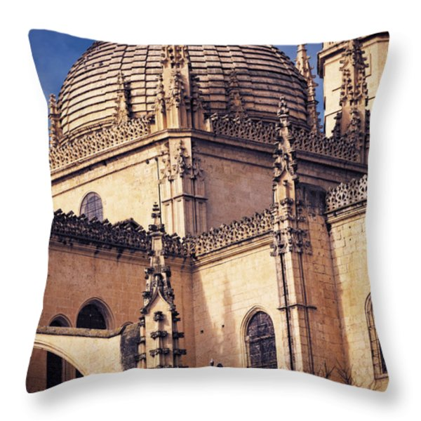 Gothic Cathedral Throw Pillow by Joan Carroll