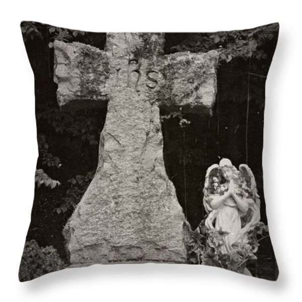 Gothic Cross Throw Pillow by Chalet Roome-Rigdon