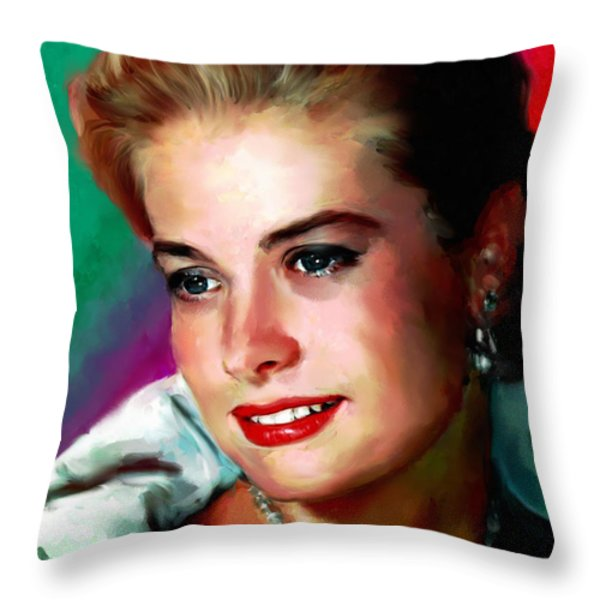 Grace Kelly Throw Pillow by Allen Glass