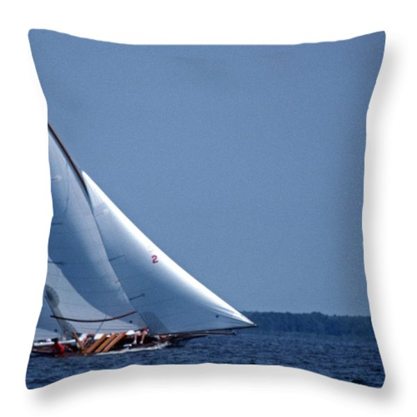 GRACE UNDER SAIL Throw Pillow by Skip Willits