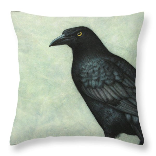 Grackle Throw Pillow by James W Johnson