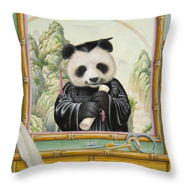 Graduation Day Throw Pillow by Lynn Bywaters
