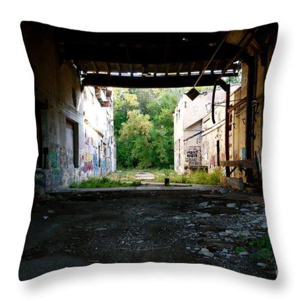 Graffiti Alley 1 Throw Pillow by Jacqueline Athmann