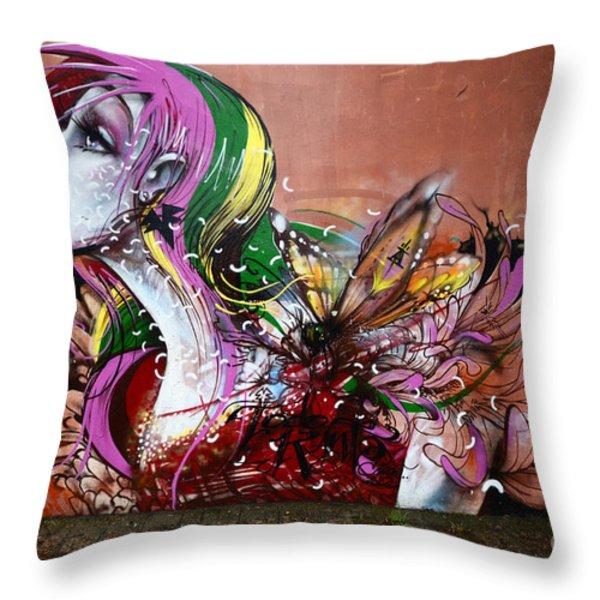 Graffiti Art Curitiba Brazil 15 Throw Pillow by Bob Christopher