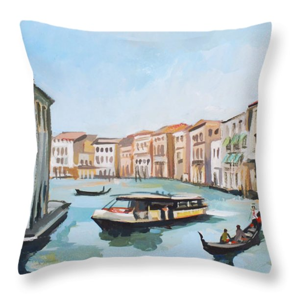 Grand Canal 2 Throw Pillow by Filip Mihail