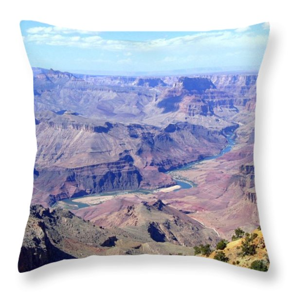 Grand Canyon 64 Throw Pillow by Will Borden