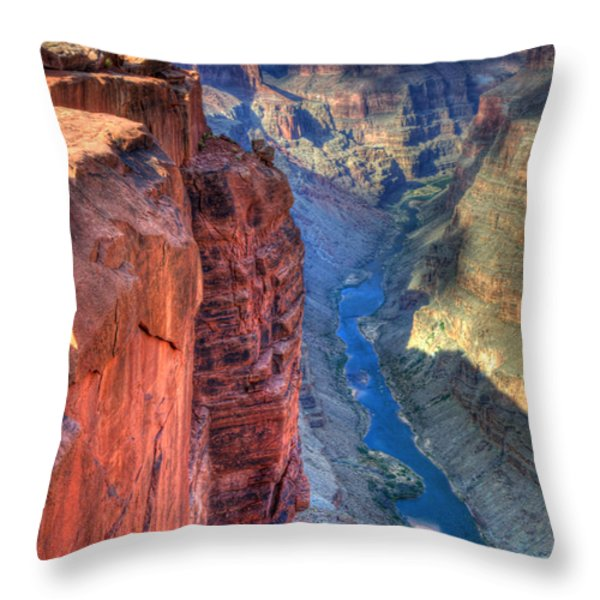Grand Canyon Awe Inspiring Throw Pillow by Bob Christopher