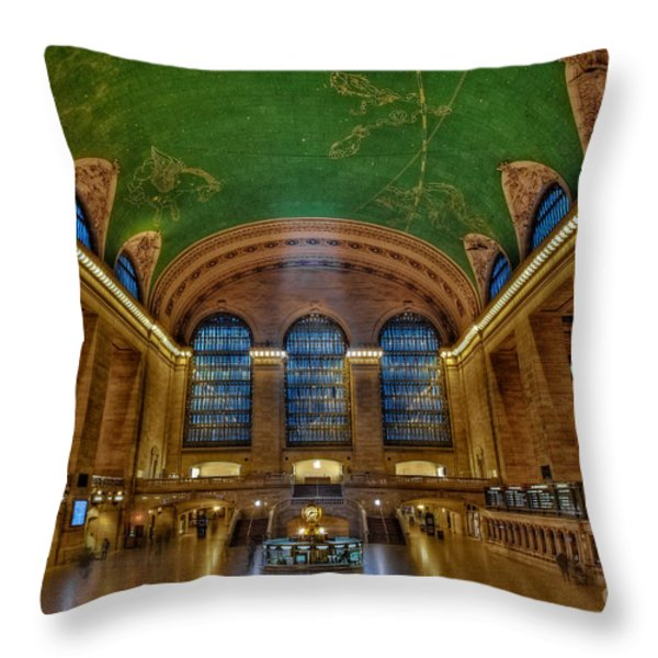 Grand Central Station Throw Pillow by Susan Candelario
