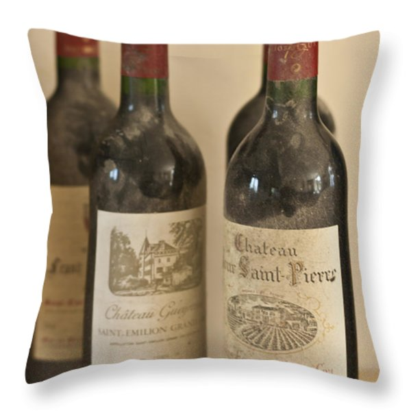 Grand Cru Throw Pillow by Nomad Art And  Design