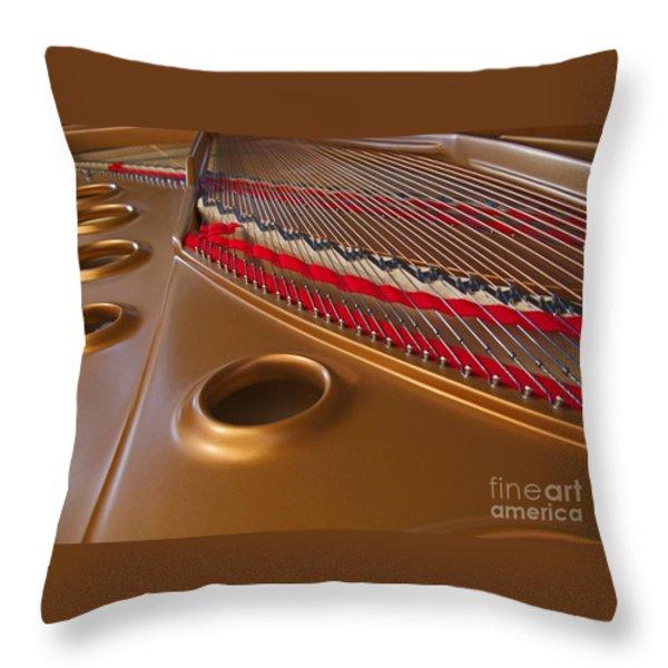 Grand Piano Throw Pillow by Ann Horn