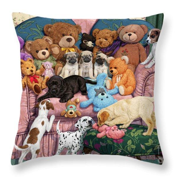 Grandma's Armchair Throw Pillow by Steve Read