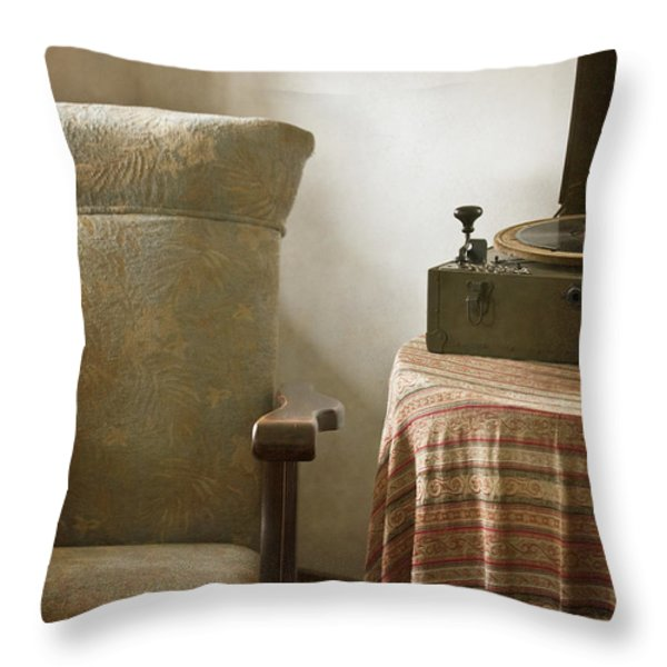 Grandma's Chair Throw Pillow by Margie Hurwich