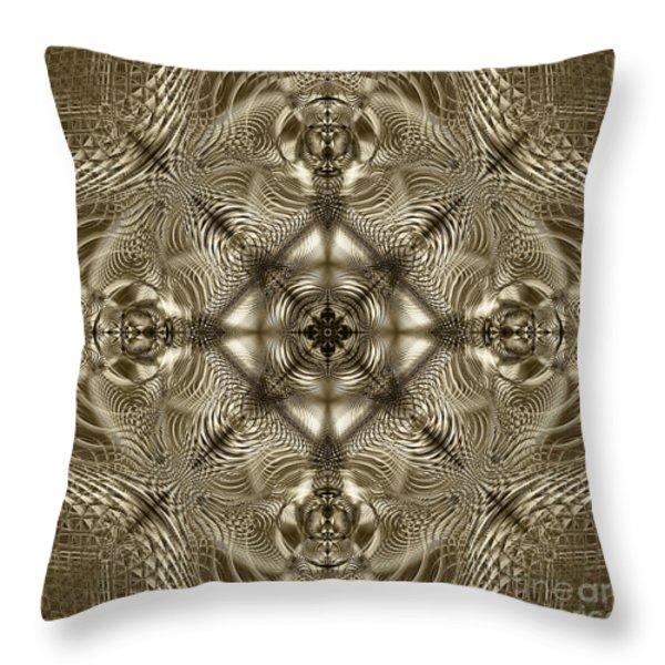 Grandma's Lace Throw Pillow by Klara Acel