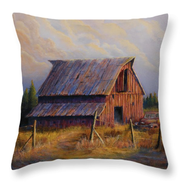 Grandpas Truck Throw Pillow by Jerry McElroy