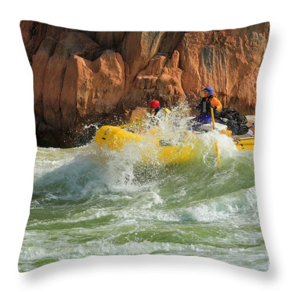 Granite Rapids Throw Pillow by Inge Johnsson