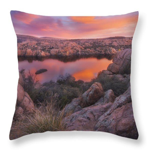 Granite Sorbet Throw Pillow by Peter Coskun