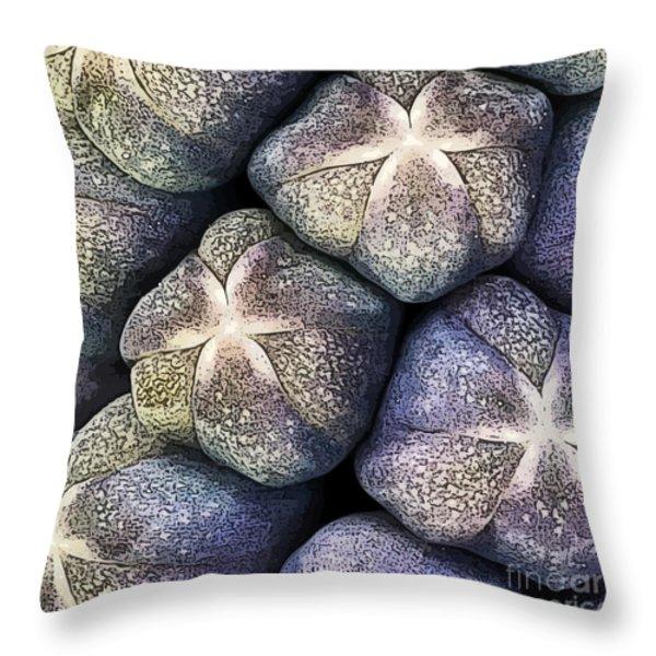 Grape Hyacinth Detail Throw Pillow by Jane Rix