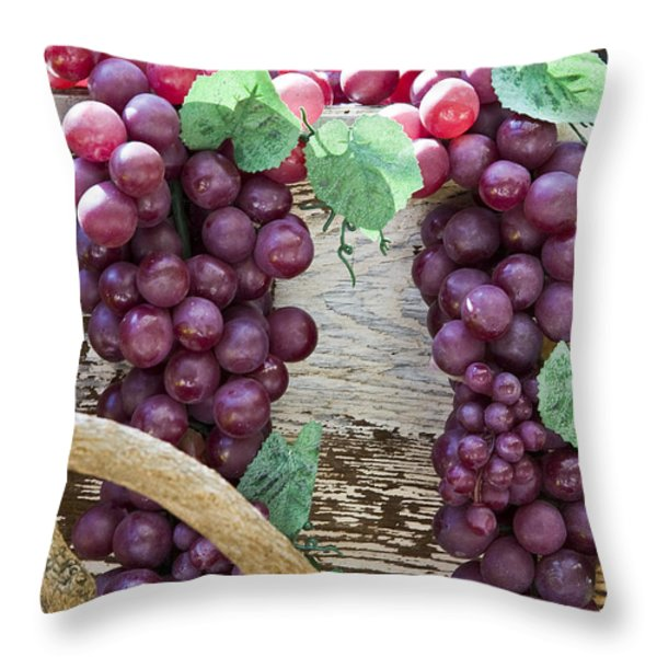 Grapes Throw Pillow by Tim Hightower