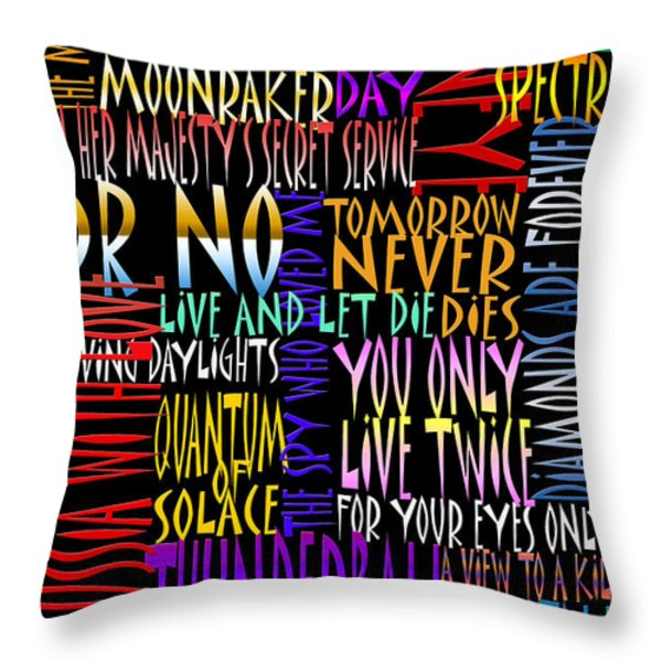 Graphic Bond Throw Pillow by Andrew Fare