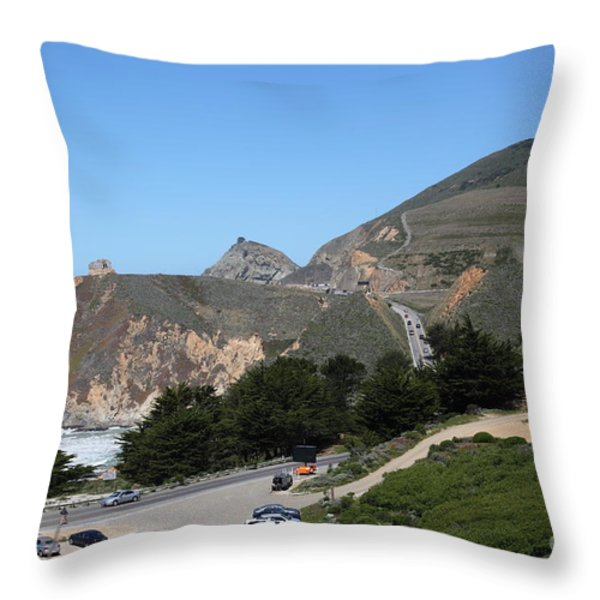 Gray Whale Cove State Beach Montara California 5d22614 Throw Pillow by Wingsdomain Art and Photography