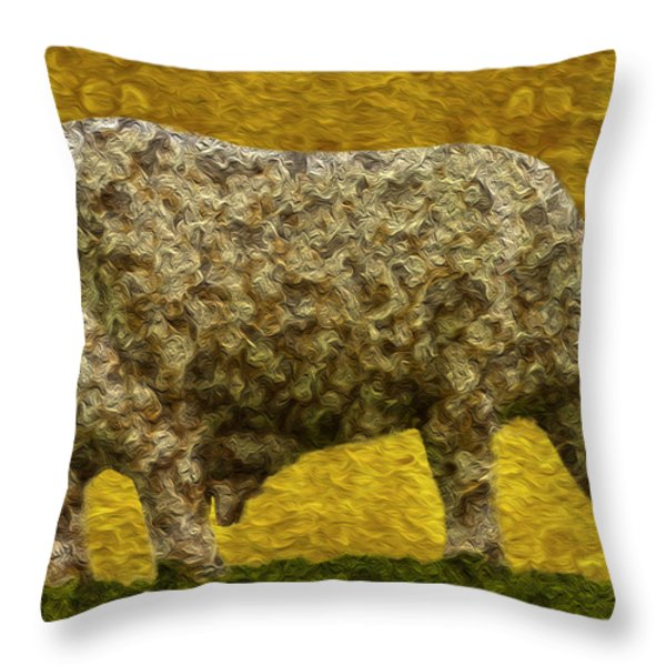 Grazing 2 Throw Pillow by Jack Zulli