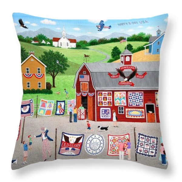 Great American Quilt Factory Throw Pillow by Wilfrido Limvalencia