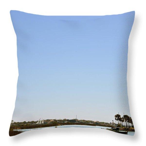 Great Cross - Nombre de Dios - St Augustine Throw Pillow by Christine Till