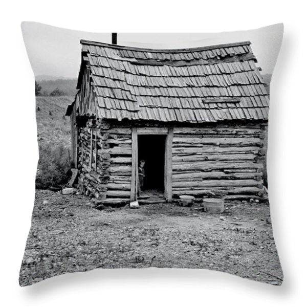 Great Depression Throw Pillow by Benjamin Yeager