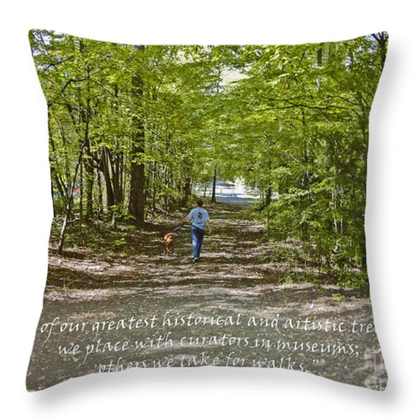Great Treasures Throw Pillow by Sandra Clark