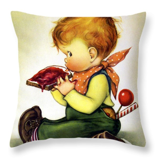 Greedy Petey Throw Pillow by Chalot Byi