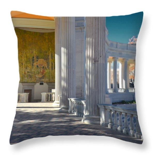Greek Theatre 2 Throw Pillow by Angelina Vick