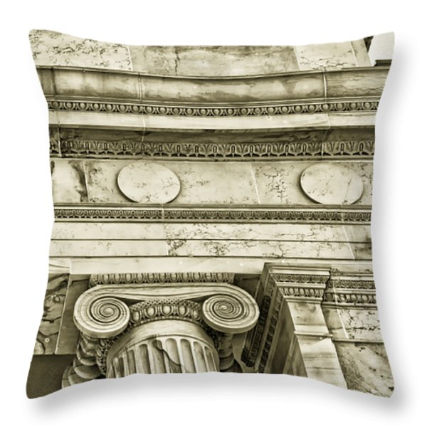 Greek Theatre 5 Golden Age Throw Pillow by Angelina Vick