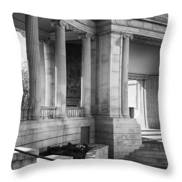 Greek Theatre 7 Bw Throw Pillow by Angelina Vick