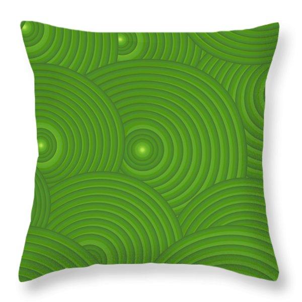 Green Abstract Throw Pillow by Frank Tschakert