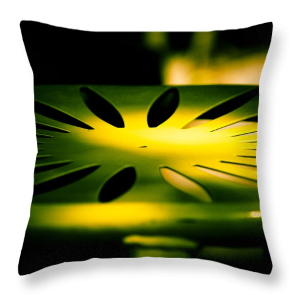 Green and Gold Throw Pillow by Christi Kraft