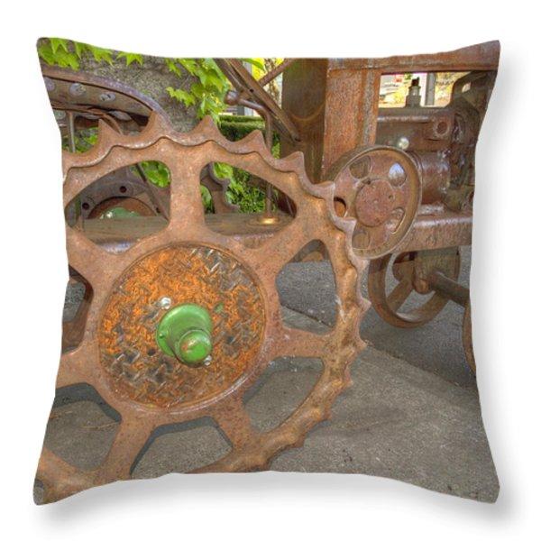 Green Axle Throw Pillow by Jean Noren