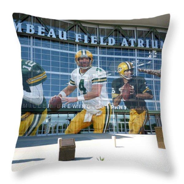 Green Bay Packers Lambeau Field Throw Pillow by Joe Hamilton
