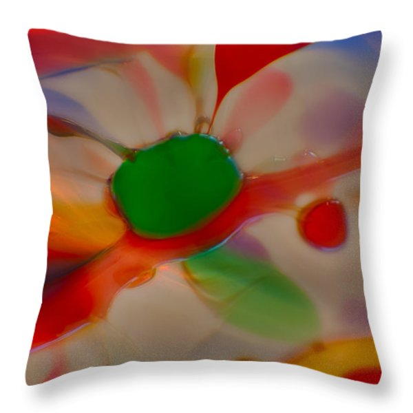 Green Butterfly Throw Pillow by Omaste Witkowski